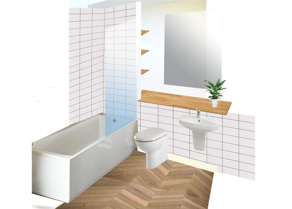 Small Bathroom Design Proposal - Sketch