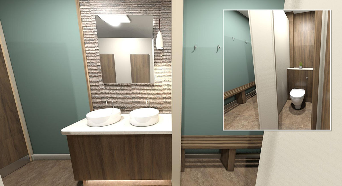 Commercial interior design - Toilets