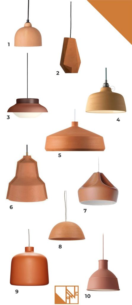 Terracotta lights pendant lights, rust, brick