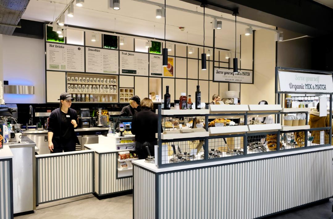 Food to go, coffee bar design, juice bar design