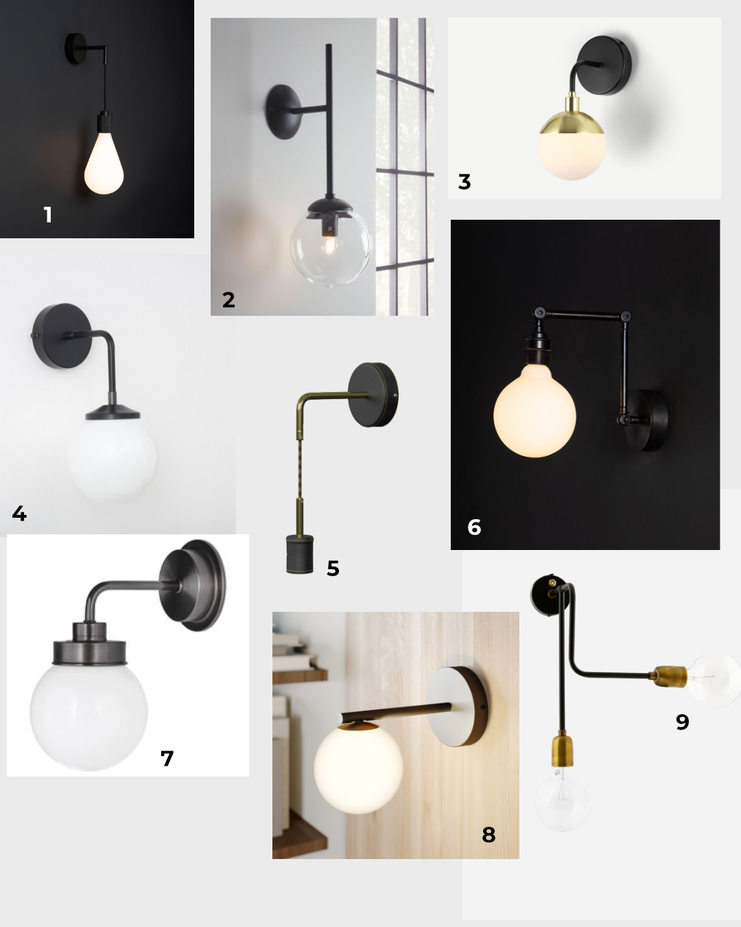 Wall light options for the bedroom
